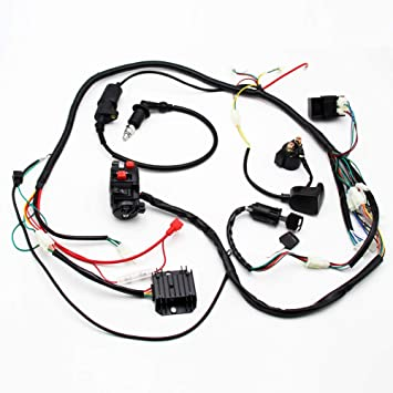 go kart gy6 wiring harness amazon com buggy wiring harness loom cdi coil spark plug for gy6  amazon com buggy wiring harness loom
