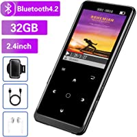 $39 » 32GB MP3 Player, Mibao MP3 Player with Bluetooth 4.2, Music Player with FM Radio,…