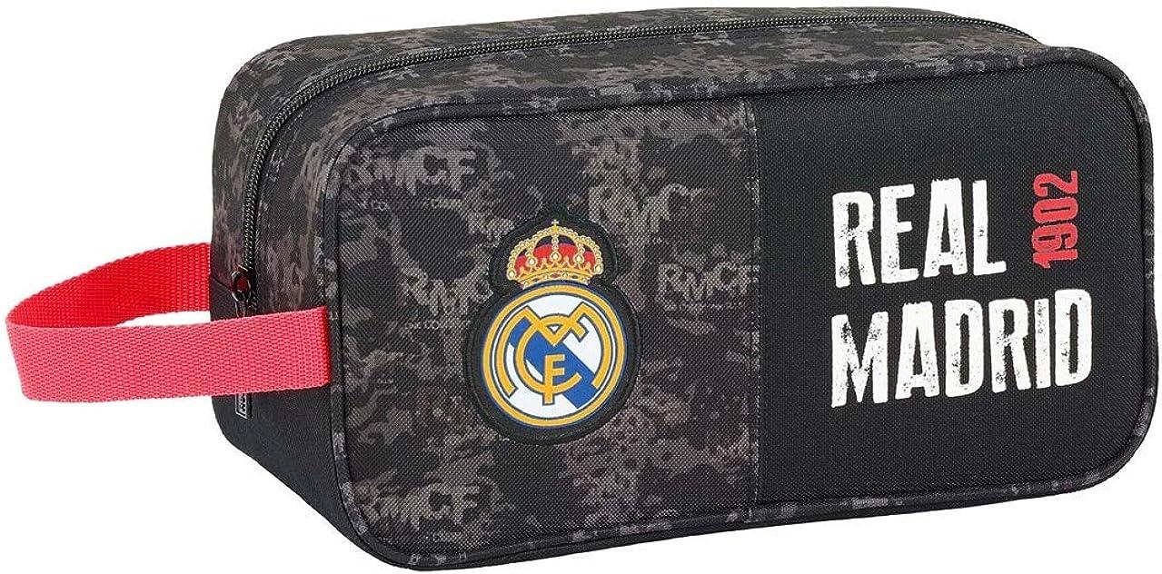 Real Madrid CF Bolso Zapatillas zapatillero 29 cm. Accesorio de Viaje-Neceser, Niños, Negro: Amazon.es: Ropa y accesorios