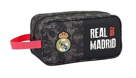 Safta Real Madrid Bolsa para Zapatos, 29 cm, Negro