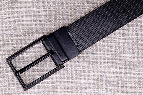 Concepteur Cuir Noir Pour Les Hommes Ceintures Jean Mâle Boucles De Ceinture Épinglette De Taille