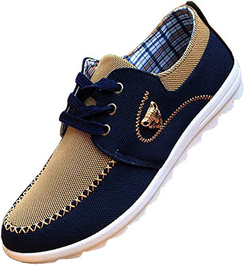 2017 New Fashion Mens Lace Up Flat Heel Round Toe Driving Shoes Sneakers Soft US