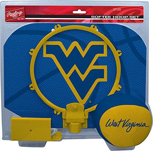 Rawlings NCAA West Virginia Mountaineers Kids Slam Dunk Hoop Set, Blue, Small