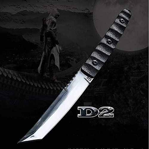 JGN Trading Katana D2 Steel Tactical Dagger Knife Tanto Fixed Blade 61HRC G10 Handle Outdoor Camping Survival EDC Knives Wilderness Combat Hunting Knife