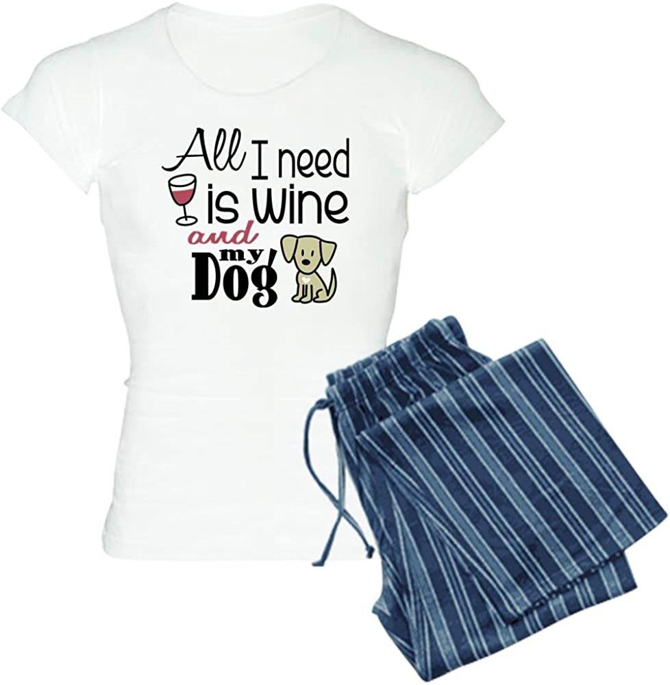 CafePress Wine /&Amp; Dog Women39;S Light Womens PJs