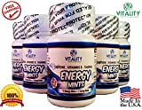 Vitality Energy Mints - Better Than Energy Drinks! Best Caffeinated Tablets Contain 50Mg Caffeine Energy Boost with 0 Calories and 0 Sugar - Contains B Vitamins and Taurine (6 Bottles of 30 Mints Ea.)