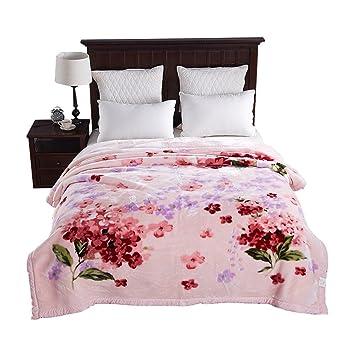Wddwarmhome Pink Blanket Blumchenmuster Schlafzimmer Decke