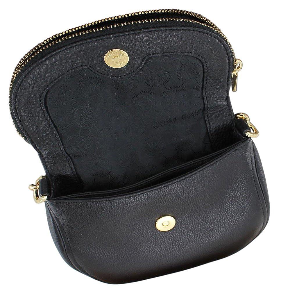 00bead495156 Michael Kors Beford Leather Flap Crossbody Bag Purse Black: Amazon.ca:  Shoes & Handbags