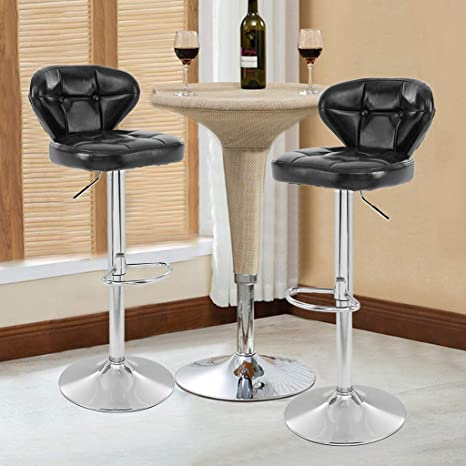 Swell Amazon Com 2 Pcs Leather Adjustable 3600 Swivel Counter Bar Onthecornerstone Fun Painted Chair Ideas Images Onthecornerstoneorg