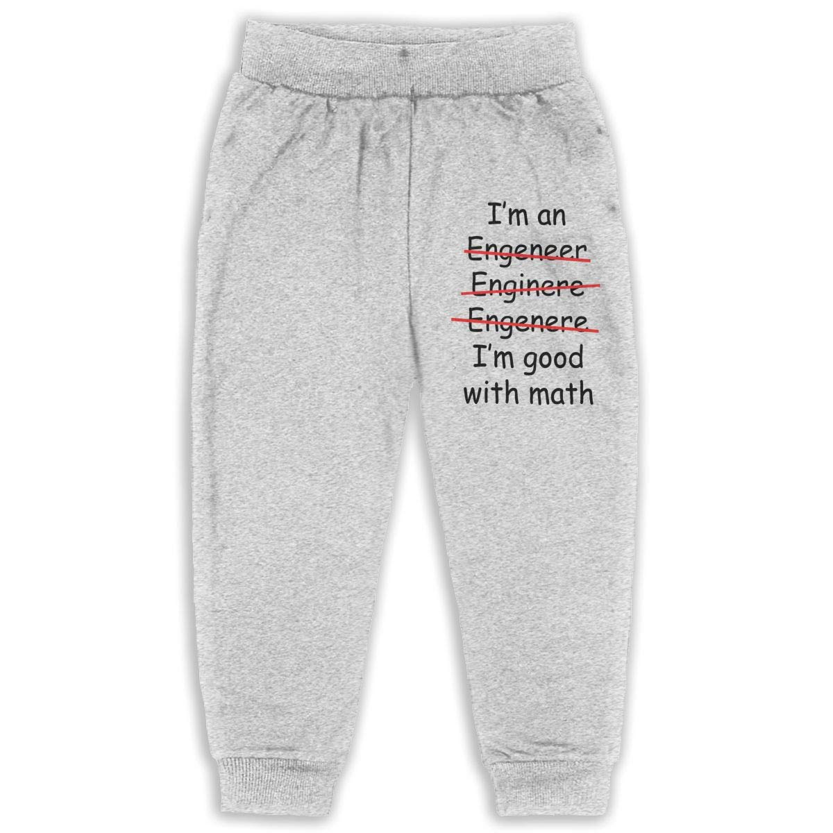 Im an Engineer Im Good at Math Sweatpants for Boys /& Girls Fleece Active Joggers Elastic Pants