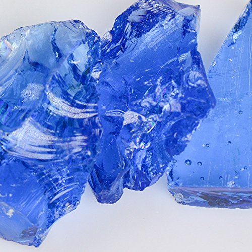(Crystal) Blue Landscape Glass - American Specialty Glass – Landscaping Glass - 10 lbs, Large for cheap