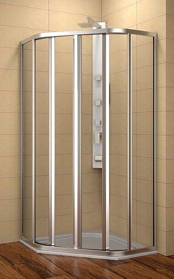 Cabina de ducha 90 x 90 cm, 5 de esquina de ducha 90 x 90 x 185 cm ...