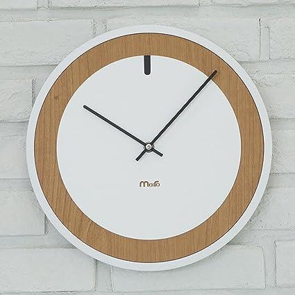 JLRQY Relojes De Pared Grandes Y Redondos De Reloj De Cuarzo Silencioso Creatividad De Madera Reloj