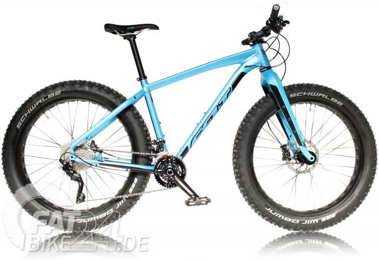 FELT DD 30 Fat Bike Fatbike mountenbike MTB con XT Schaltung, Schwalbe Jumbo Jim neumáticos y Felt Carbon manillar Modelo 2016 (M/18.5