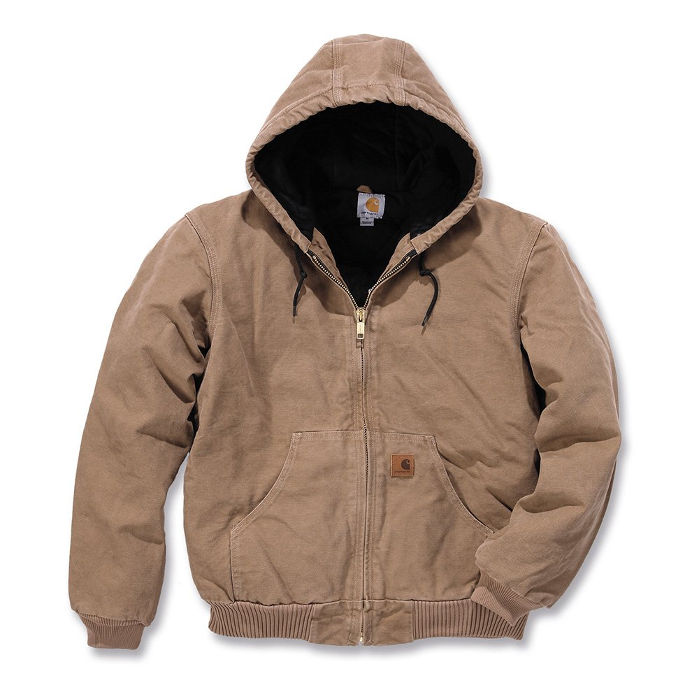 Carhartt Men's Quilted Flannel Lined Sandstone Active Jacket J130,Frontier Brown,X-Large by Carhartt