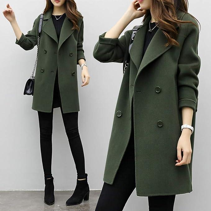 Amazon.com: VESNIBA Womens Autumn Winter Jacket Casual Outwear Parka Cardigan Slim Coat Overcoat: Clothing