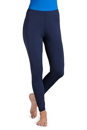 d9f572531d4 Coolibar Women s UV Protective 50 Plus Swim Tights - Blue