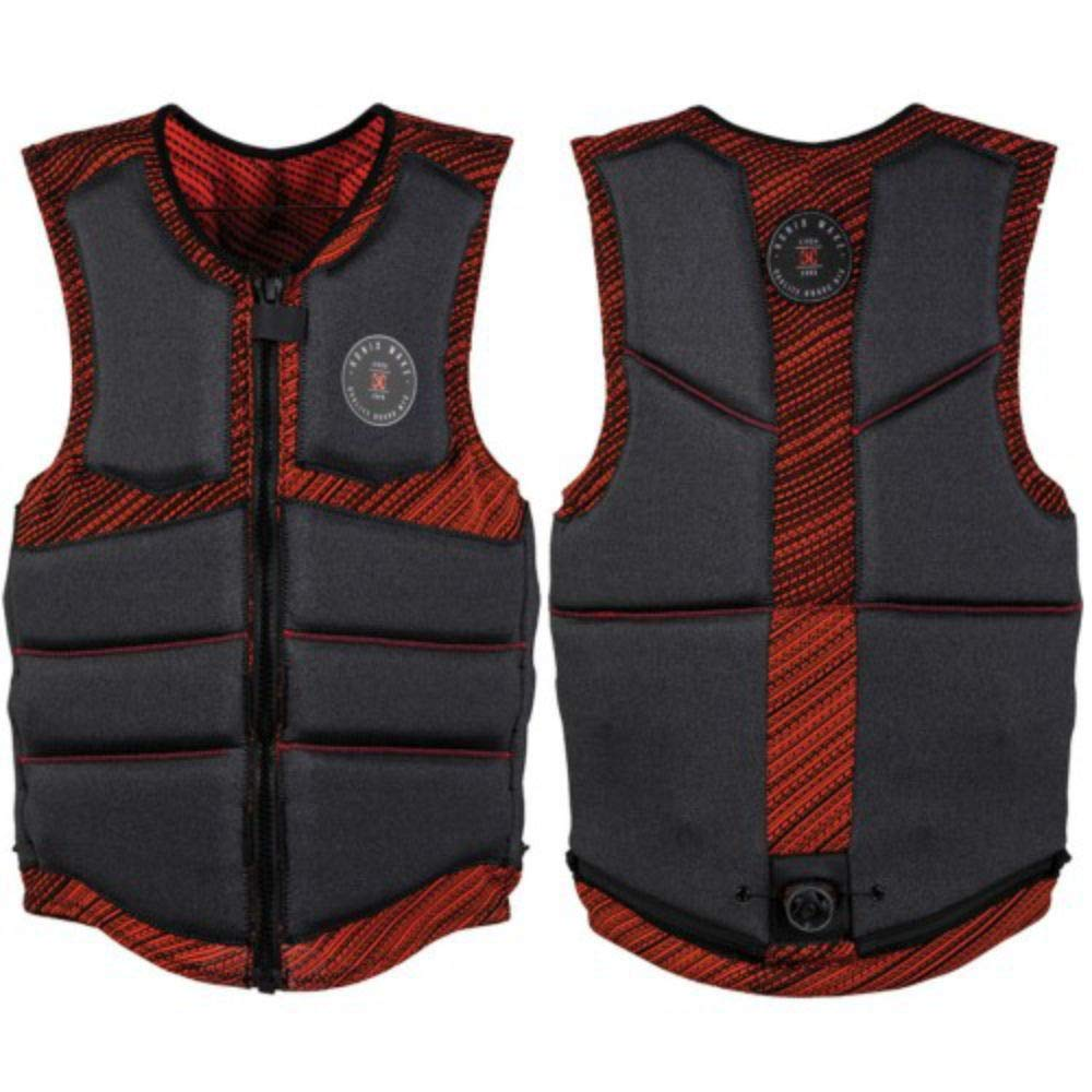 Ronix One Custom Fit - BOA - Impact Jacket - Grey Heather/Red - XL (2019) by RONIX