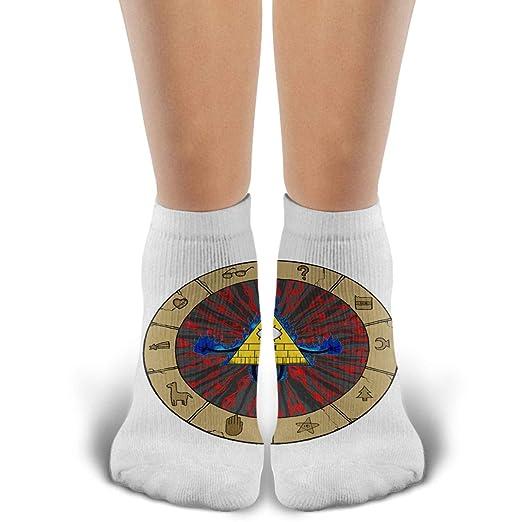 Amazon com: Crew Socks Bill Cipher Gravity Falls Cotton Sock