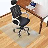 Office Desk Chair Mat for Hard Wood Floor Thick PVC Matte 48'' x 36'',Transparent Sturdy Chair Mat