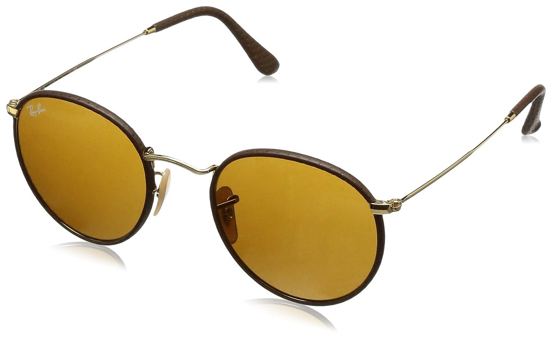 RAYBAN Herren Sonnenbrille Round Craft, Braun (Leather Brown/Brown ...