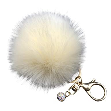 Image result for covermason fluffy faux rabbit fur ball charm