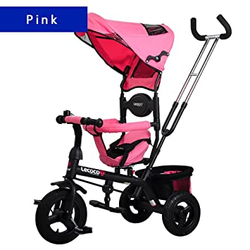 Guo shop- Bicicletas, carritos, cochecito de bebé, triciclo de los niños, cuatro en una bici bicicletas para niños (Color : Pink) : Amazon.es: Jardín
