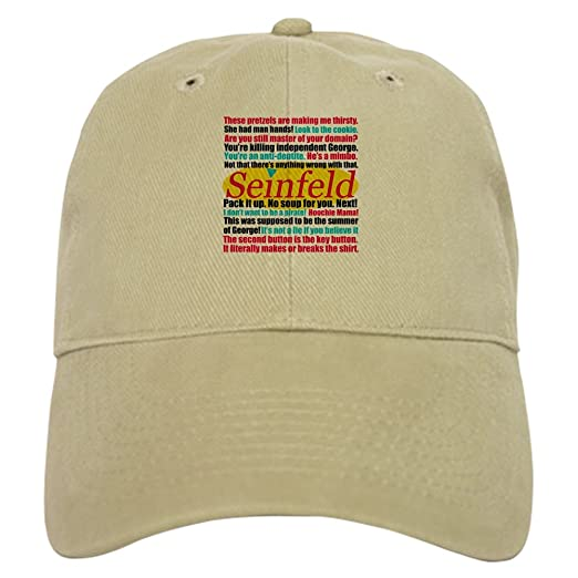 978a9518142 CafePress - Seinfeld Quotes Logo - Baseball Cap with Adjustable Closure