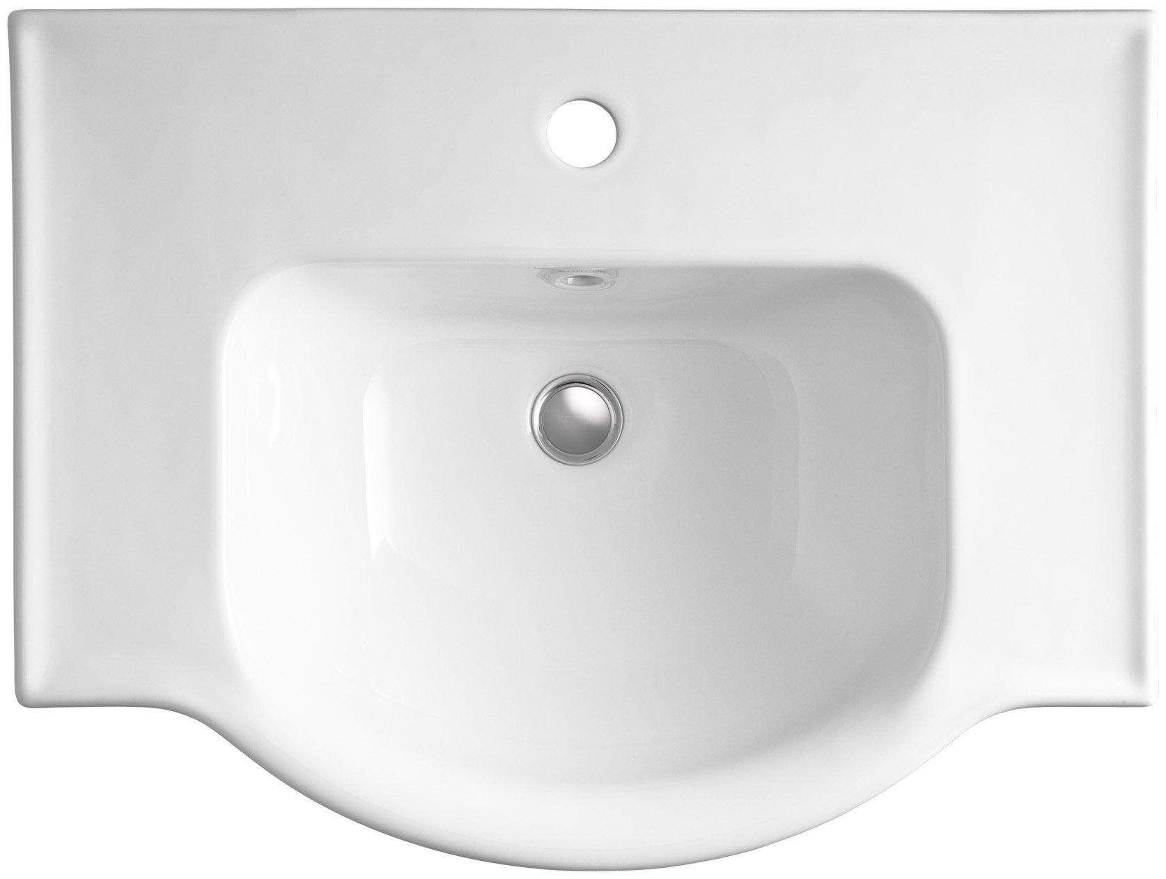 KOHLER K-5248-1-0 Veer Single-Hole Sink Basin, 24-Inch, White by Kohler (Image #2)