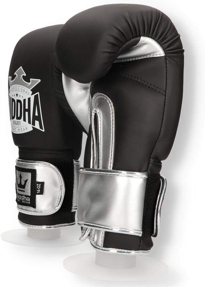 Buddha Sports Guantes de Boxeo Muay Thai Kick Boxing Top Fight Negro Mate