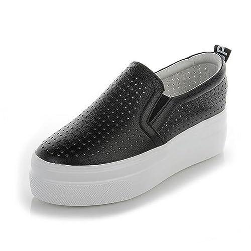 Zapatos de Mujer Zapatos de tacón, Mocasines Casuales, Zapatos de Cuero Blancos Zapatos Cortos de Camuflaje Zapatos Deportivos Zapatos de tacón con Punta ...