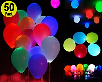 Amazon led light up balloons mixed colors premium party led light up balloons mixed colors premium party lights perfect for parties birthday junglespirit Choice Image