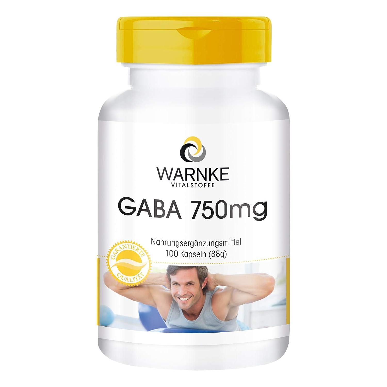 GABA 750mg - 100 Cápsulas - para la ayuda en el deporte: Amazon.es: Salud y cuidado personal