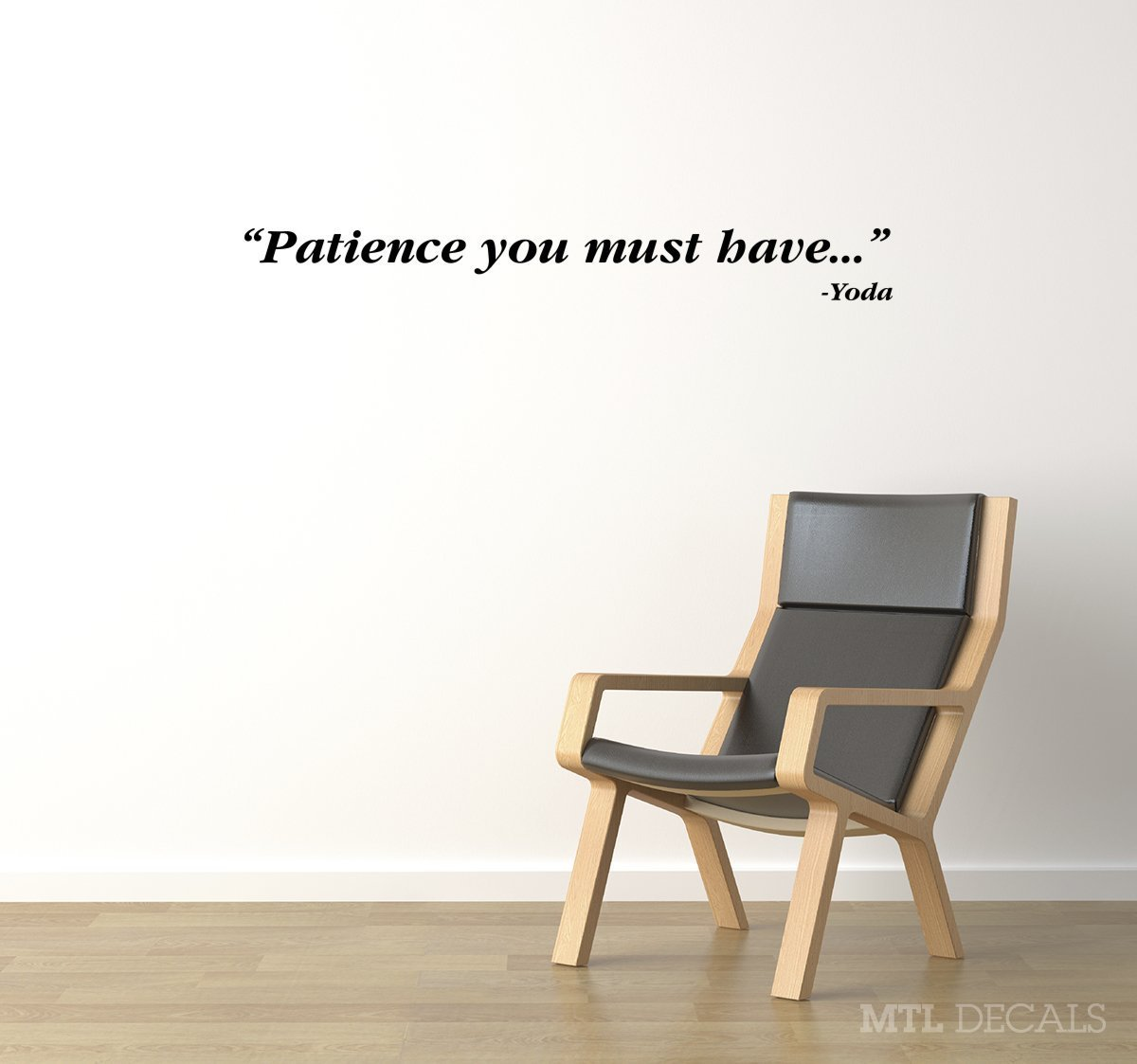 Amazon Star Wars Patience Wall Vinyl Decal Yoda Wall Quote