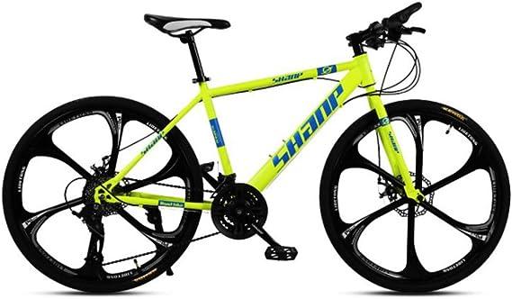LISI Bicicleta de montaña para Adultos 26 Pulgadas, Doble Disco ...