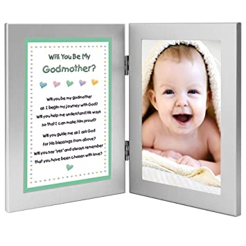 will you be my godmother keepsake frame add baby photo