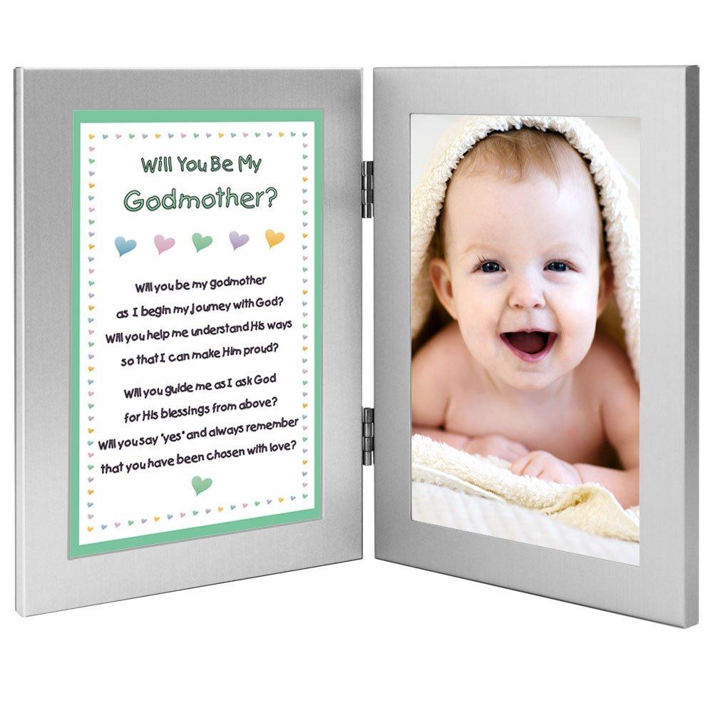 Will You Be My Godmother? Keepsake Frame - Add Baby Godchild Photo