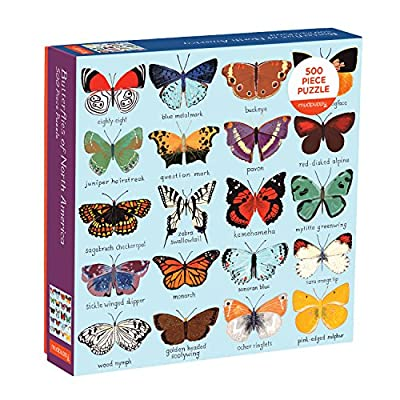 Mudpuppy Butterflies of North America 500 Piece Family Jigsaw Puzzle, Butterfly Puzzle with Recognizable Butterflies from Around North America: Mudpuppy, Adventure: Toys & Games