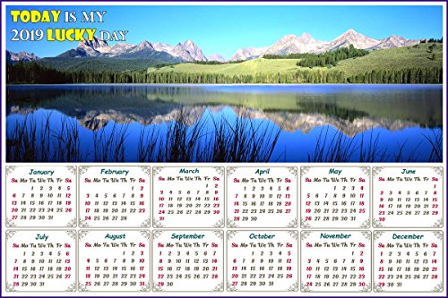 - 2019 Magnetic Calendar - Calendar Magnets - Today is My Lucky Day - Edition #15