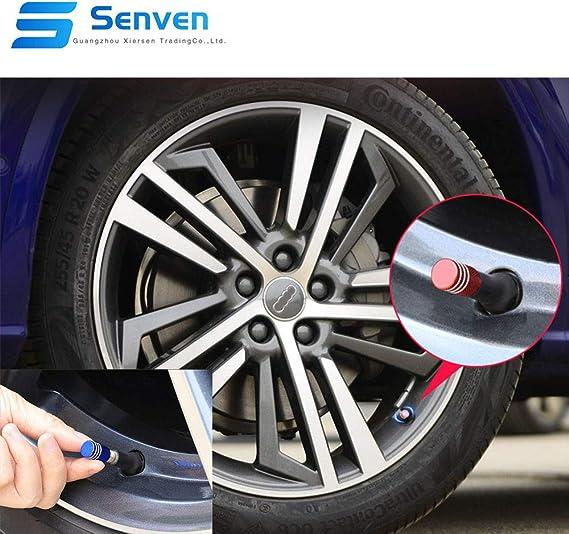 Senven 25 Pcs Hochwertige Farbe Aluminium Ventilkappen Reifenventil Staubkappen Auto Motorrad Lkw Fahrrad Verhindern Luftleckage Universal Reifenventilkappen Baumarkt