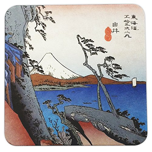 Coasters, Ukiyo-e Horoshige Japanese art Fifty Three Stations Of Tokaido, Yui B, Set Of 48 Pieces Wonderful Japan by Wonderful Japan
