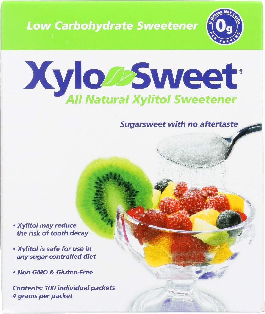 (NOT A CASE) All Natural Xylitol Sweetener 100 Packets by Xlear
