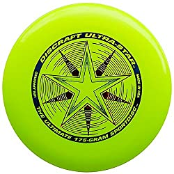 Discraft 175 Gram Ultra Star Sport Disc, Fluorescent Yellow