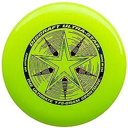 Discraft 175 Gram Ultra Star Sport Disc, Fluorescent Yellow