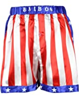 Rocky Balboa Mens Apollo Movie Boxing American Flag Shorts Trunks boxers boxer