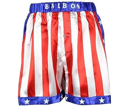 171736acfa2d Amazon.com  Rocky Balboa Mens Apollo Movie Boxing American Flag ...