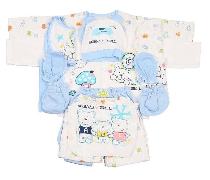Baby Set 3-teilig Neugeborene Blau Geschenk Erstausstattung *neu*