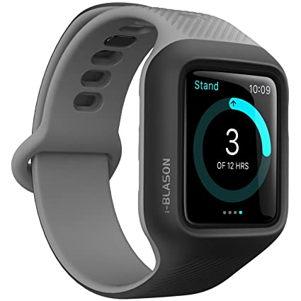 big sale 9c898 6b5a3 i-Blason Band Compatible with Apple Watch 3 42 mm, [New Unity Series]  Premium Hybrid Protective Bumper Band for Apple Watch 42 mm 2017 Release ...