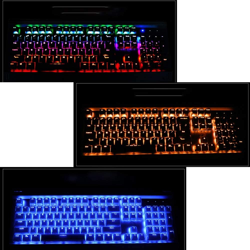 Illuminated 104 Keys with Light USB Interface Computer Accessories Mechanical E-Sports Keyboard Desktop Laptop Keyboard DR Color : A Gaming Keyboard