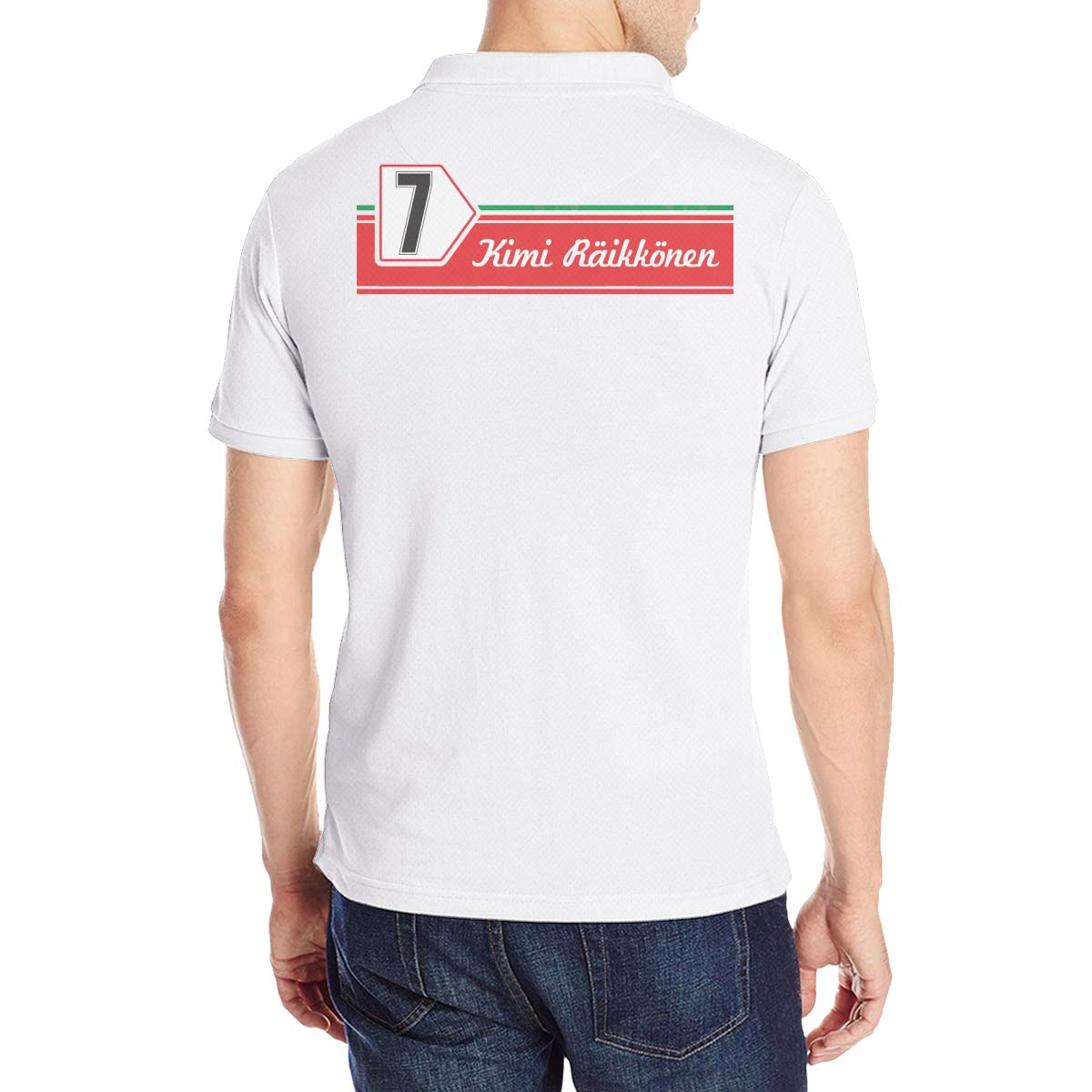 Arilce Kimi Raikkonen 7 Men Polo Shirt Short Sleeve Lapel Blouse Black